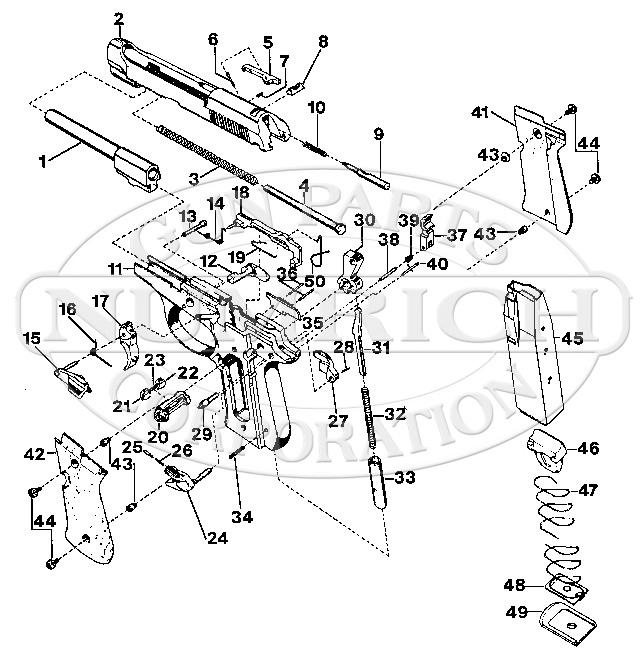 Beretta 84 Cheetah Parts & Schematic | Gun Parts Corp