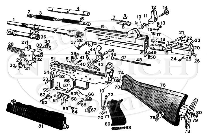 Beretta Rifles AR-70 gun schematic