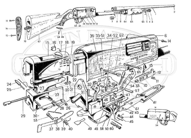 Beretta Shotguns Silver Pigeon Pump gun schematic
