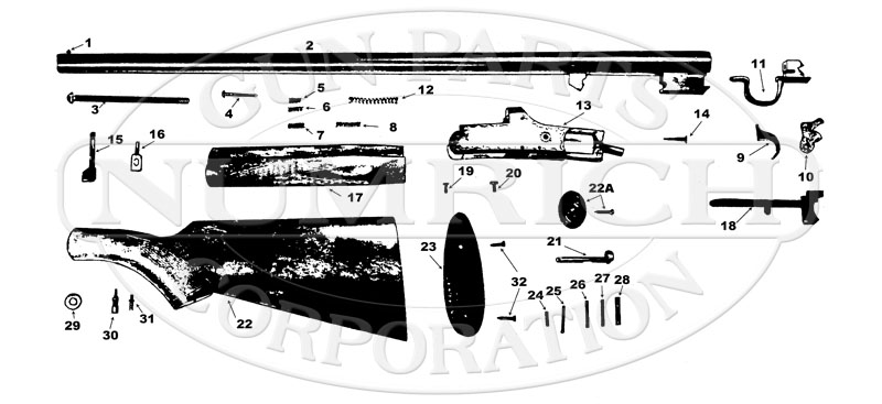 Boito Single Barrel Shotgun gun schematic