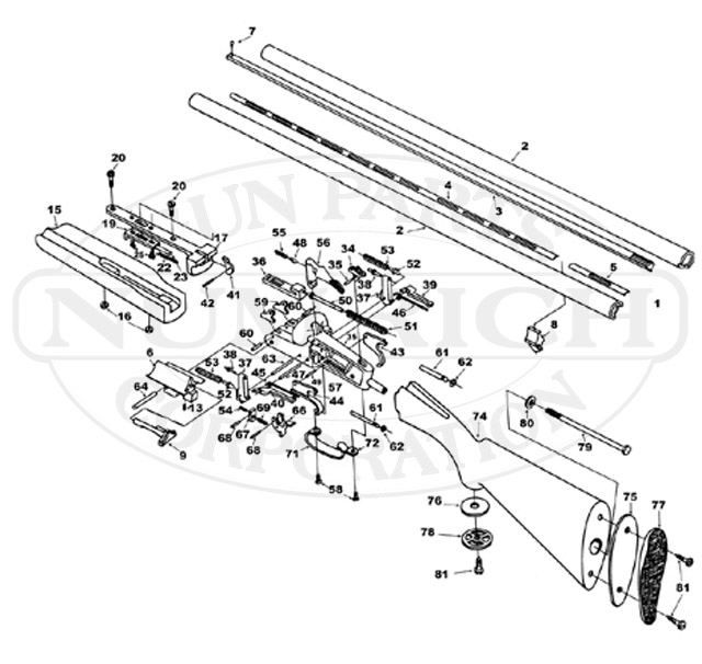 Boito Side By Side Small Frame gun schematic