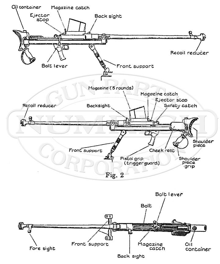 Boys Anti-Tank Rifle gun schematic