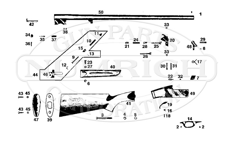 FIE Shotguns Single Barrel Shotgun SB41 gun schematic
