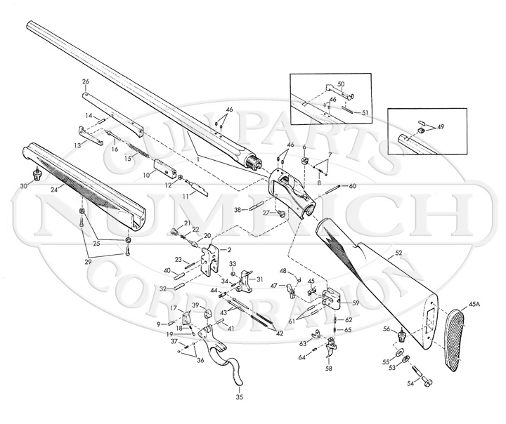 Browning Model 1885 High Wall Rifle Parts | Numrich on