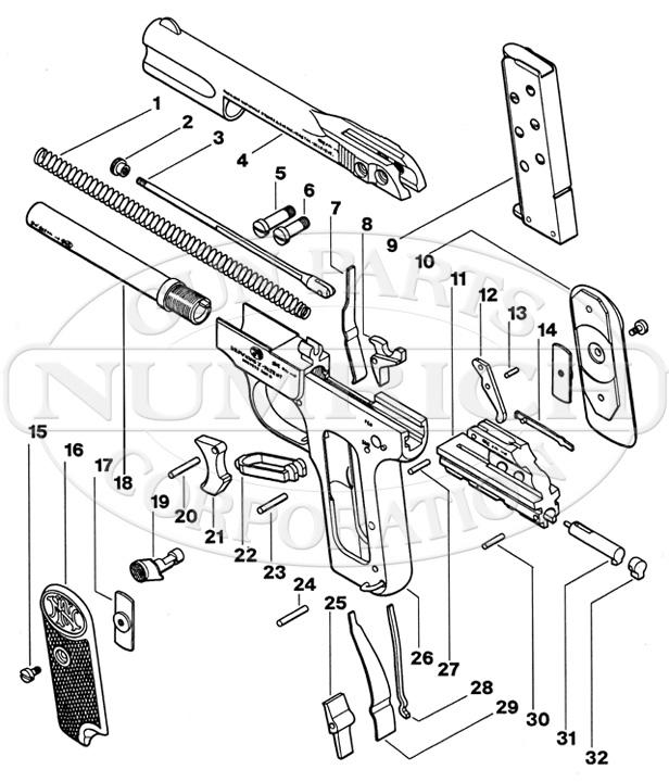 Browning Model 1900 Pistol Parts