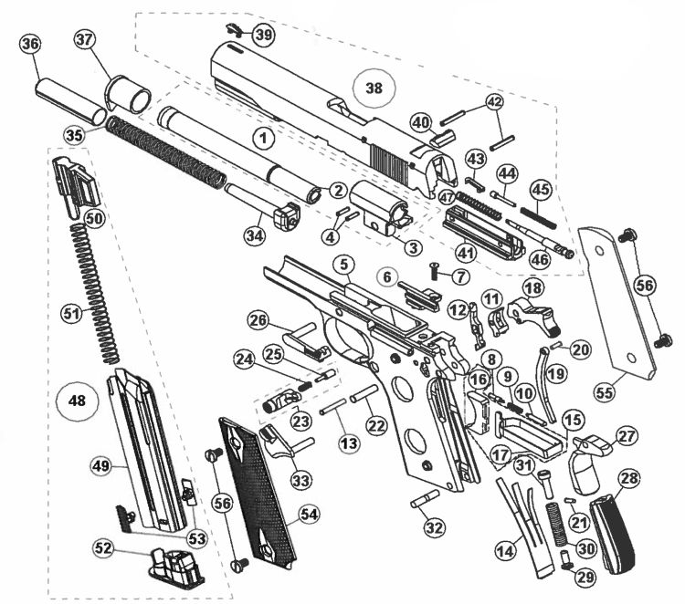1911 Sear Schematic Gun