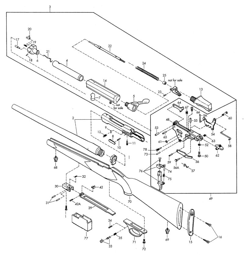 Browning Rifles A-Bolt II Parts List gun schematic