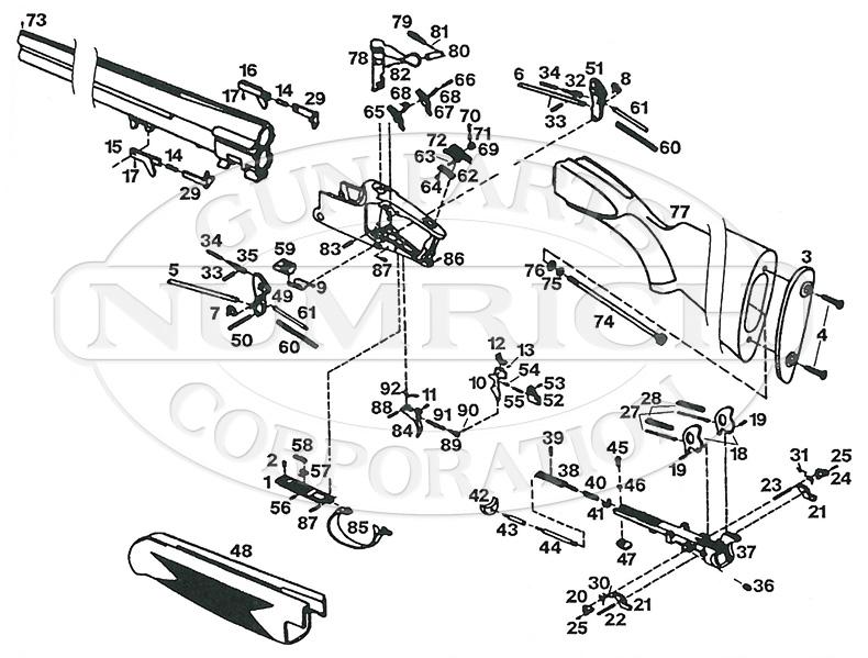 Browning Shotguns B-27 gun schematic