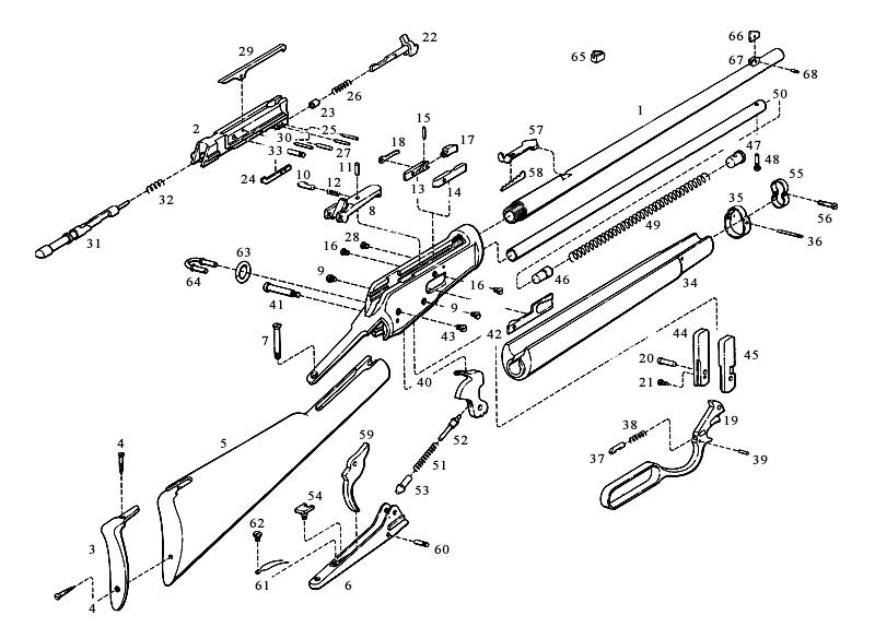 Browning Rifles B92 gun schematic