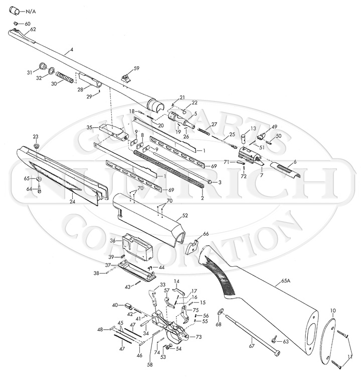 Browning Rifles BAR gun schematic