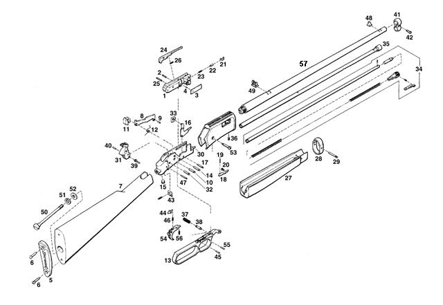 Browning Rifles BL22-Grade I gun schematic