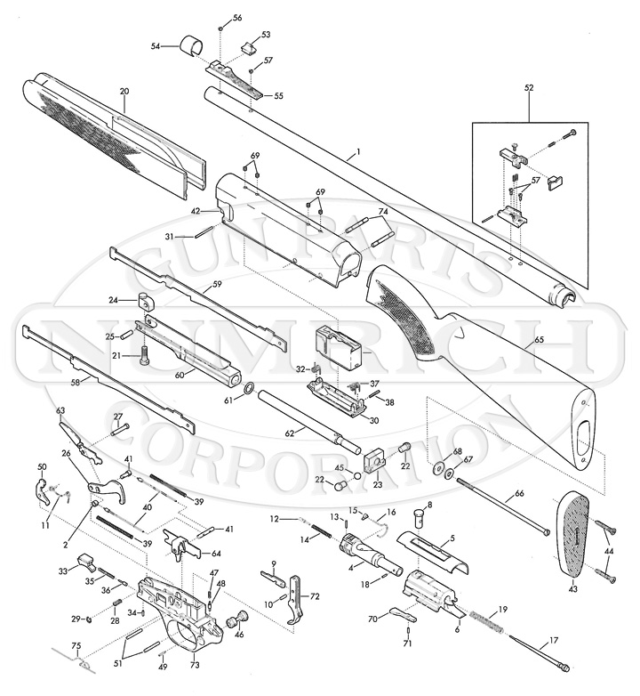 Browning Model Bpr Rifle Parts