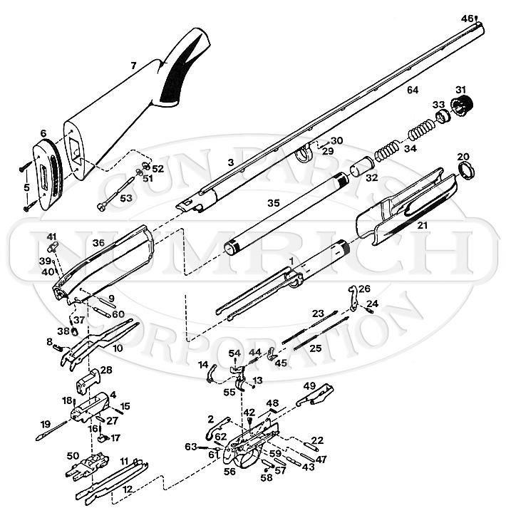 Browning Shotguns BPS Parts List gun schematic