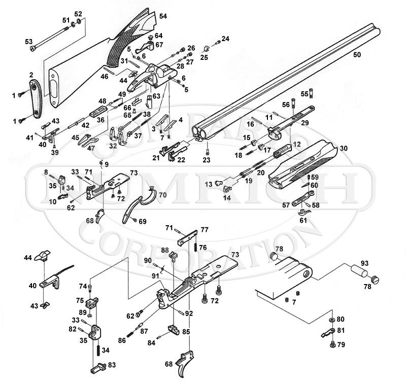 Browning Shotguns B-SS Standard Model gun schematic