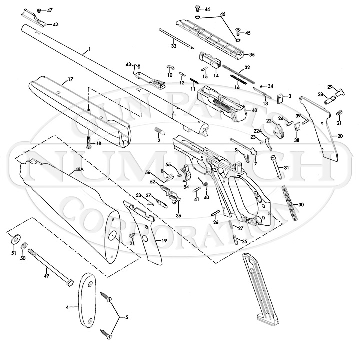 Browning Rifles Buckmark Rifle gun schematic