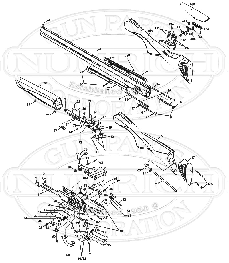 Browning Shotguns Cynergy Parts List gun schematic