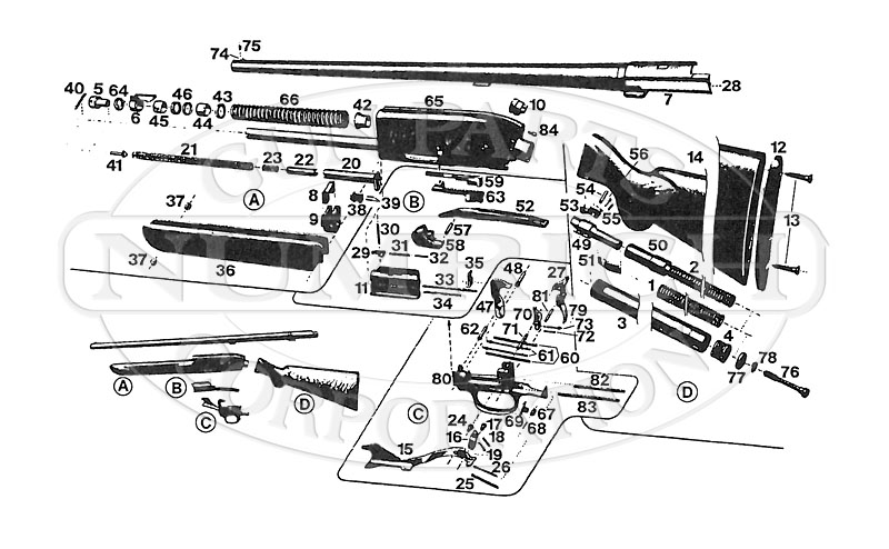 Browning Shotguns Double Auto gun schematic