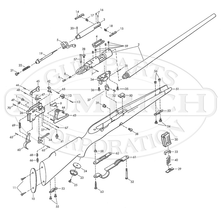 Browning Rifles 52 gun schematic