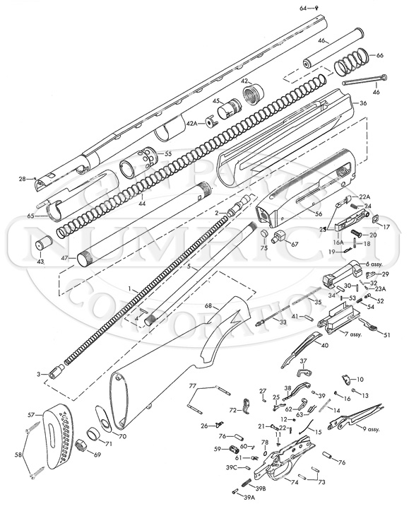 Silver Pistol Parts Diagram