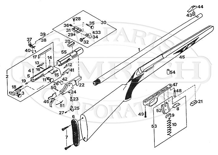 Browning Rifles T-Bolt - Made in Belgium gun schematic