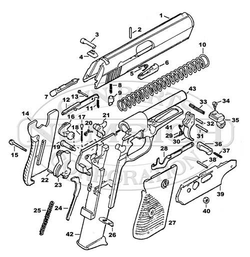 CZ Auto Pistols 50 gun schematic