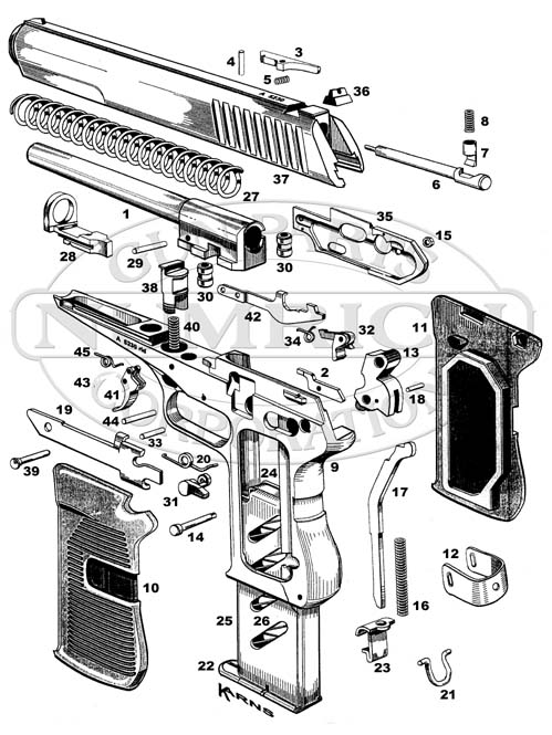 52 pistol schematic numrich rh gunpartscorp com marauder pistol parts diagram pistol parts list