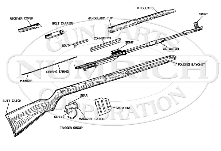 CZ Rifles 52 Rifle gun schematic