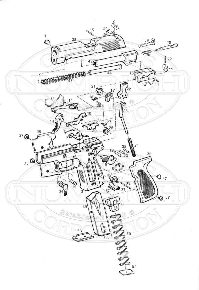 CZ Auto Pistols 99 gun schematic