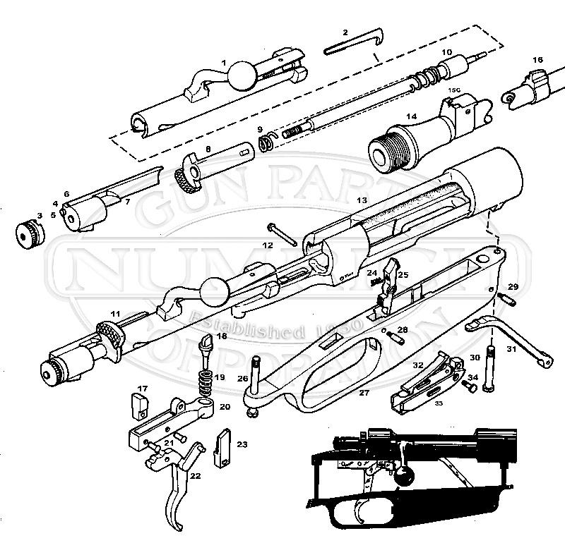 Carcano 91/38 gun schematic