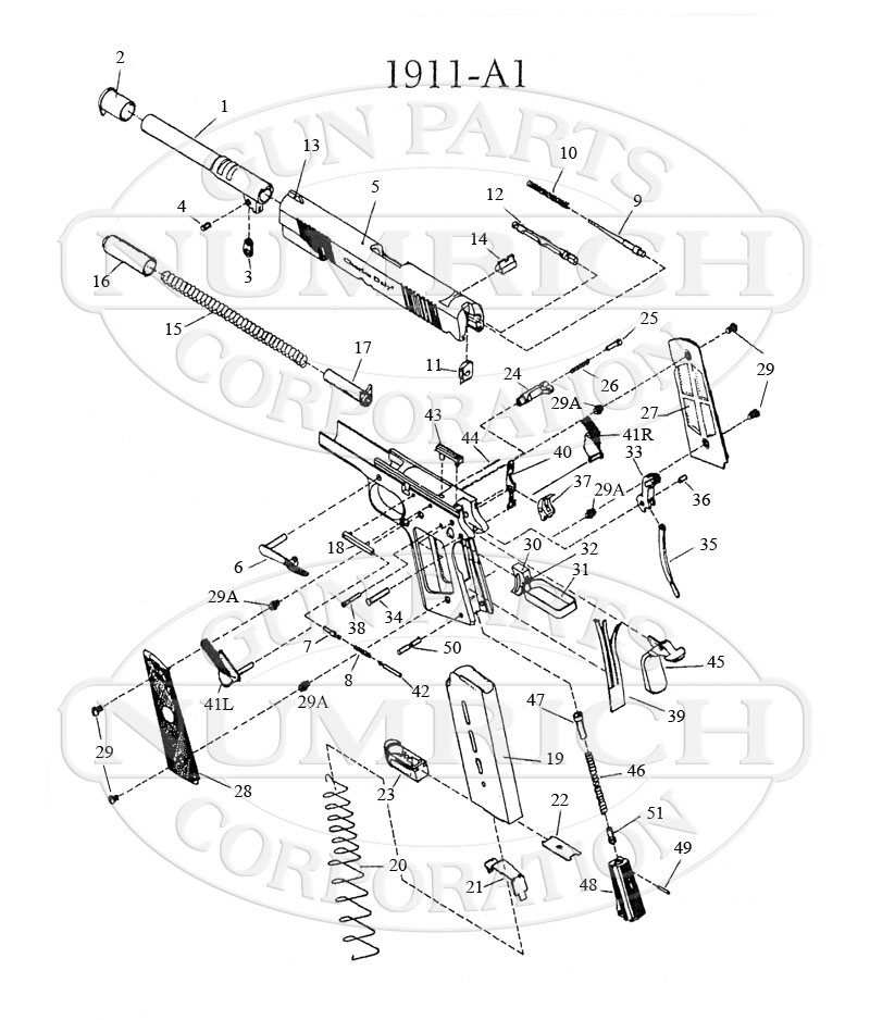 1911 Pistol Diagram Of Parts Free Download Wiring Diagrams Pictures