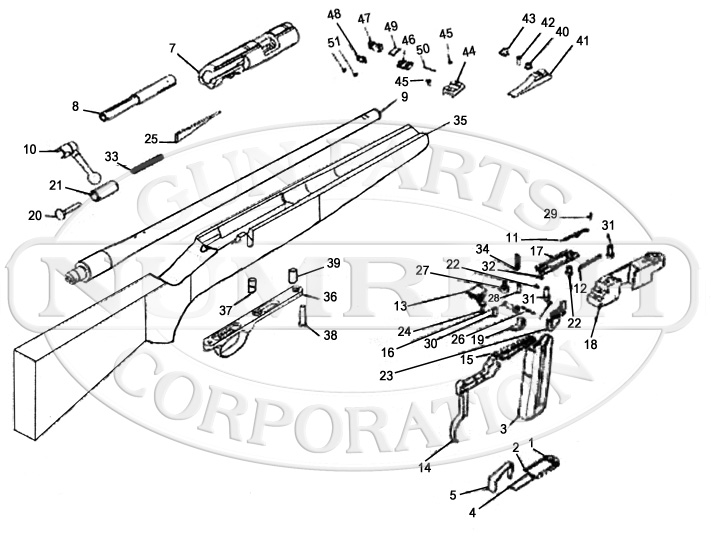 Remington Rifles 5 gun schematic
