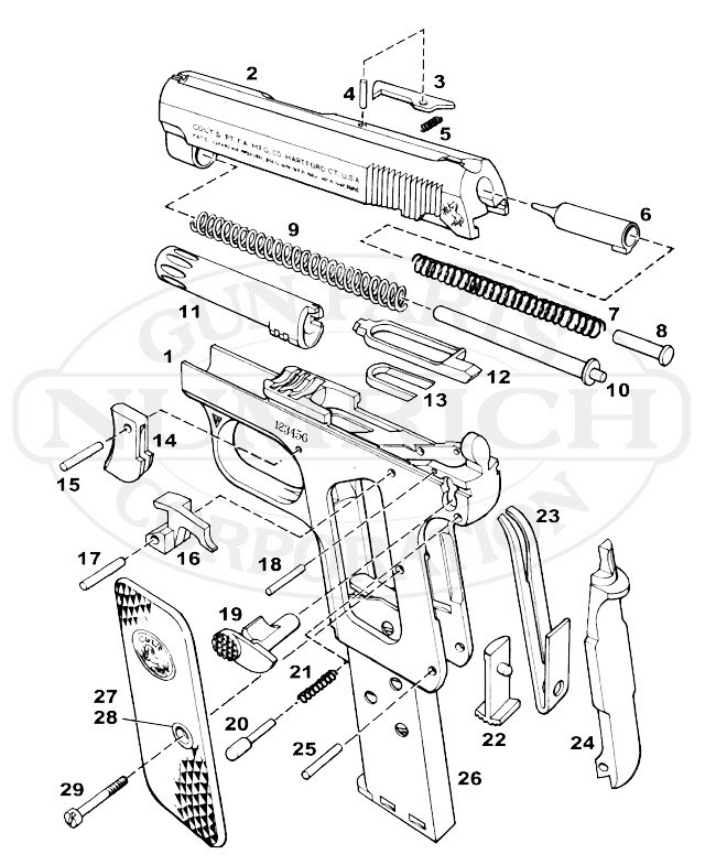 Colt Detective Special Schematic in addition 1851 Navy Colt Schematic as well Colt 1908 25 Acp Magazine For Sale Wiring Diagrams also Colt 1911 Parts Diagram furthermore 106409  pro Resorte Para Astra 25 Firecat. on colt 1908 380 parts diagram