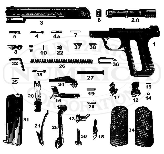 1903 Pocket Hammerless Schematic | Numrich