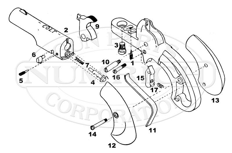 Colt Derringers Lady No. 4 gun schematic