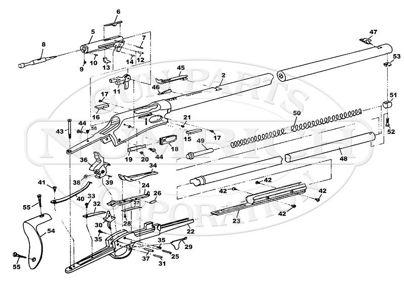 Colt Rifles Lightning Centerfire Rifle gun schematic