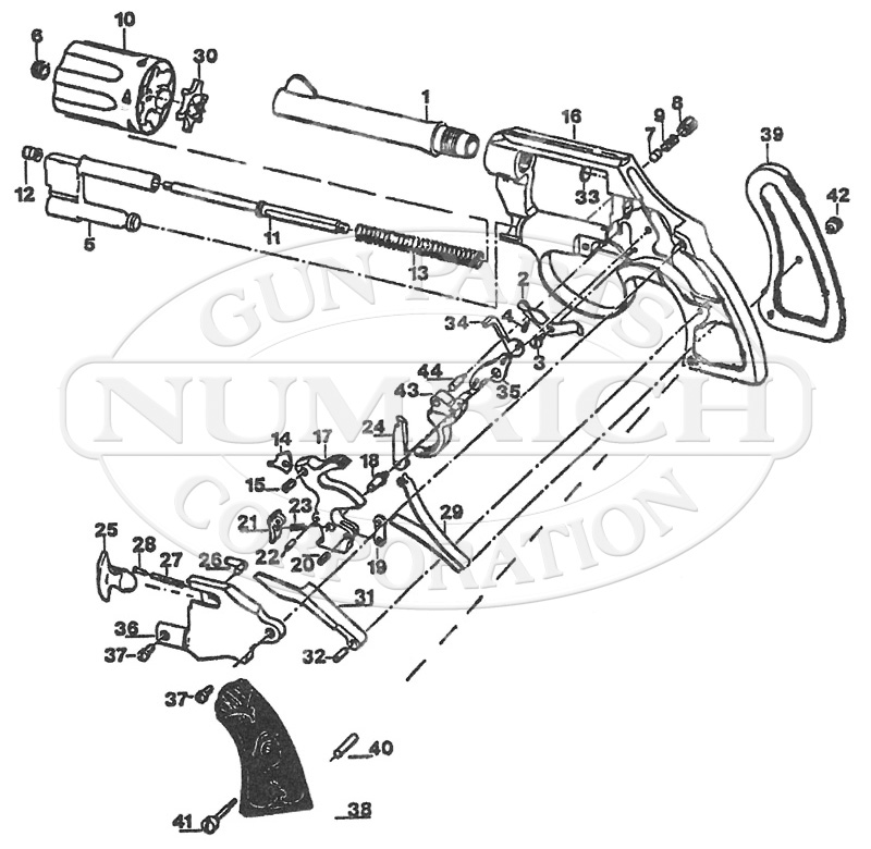 Colt Revolvers Pocket Positive gun schematic