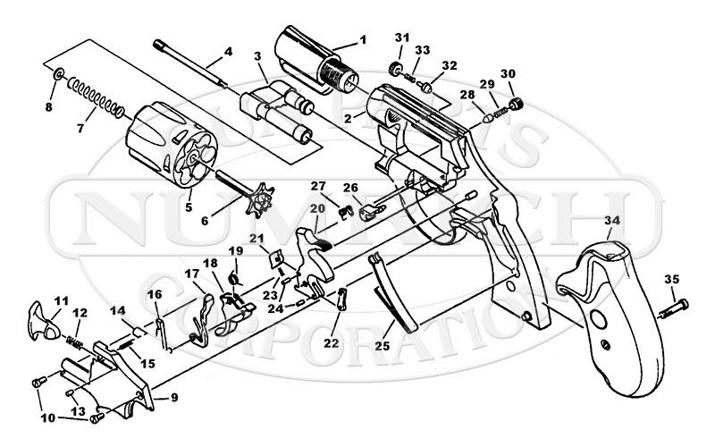 Colt Revolvers SF-VI gun schematic