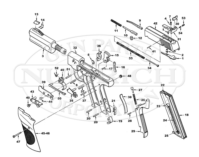 ruger single six 22 parts diagram