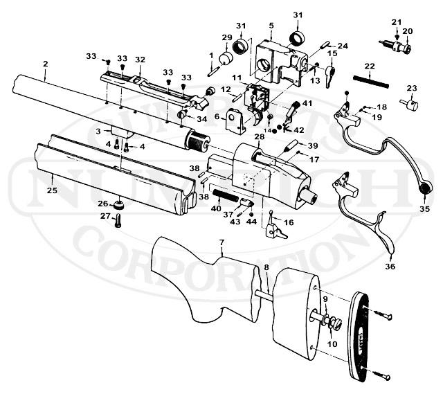 Colt Rifles Sharps gun schematic