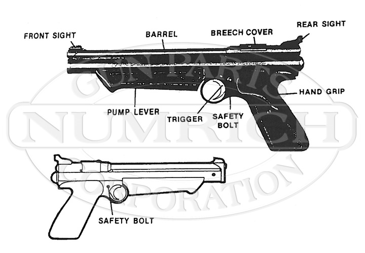 1300 Air Pistol Schematic | Numrich