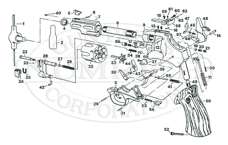 Dan Wesson 744VH gun schematic