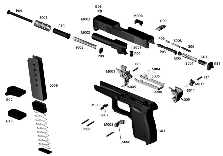 Diamondback Arms DB380 gun schematic
