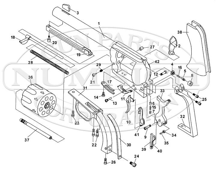 European American Armory Revolvers Small Bore Bounty Hunter gun schematic