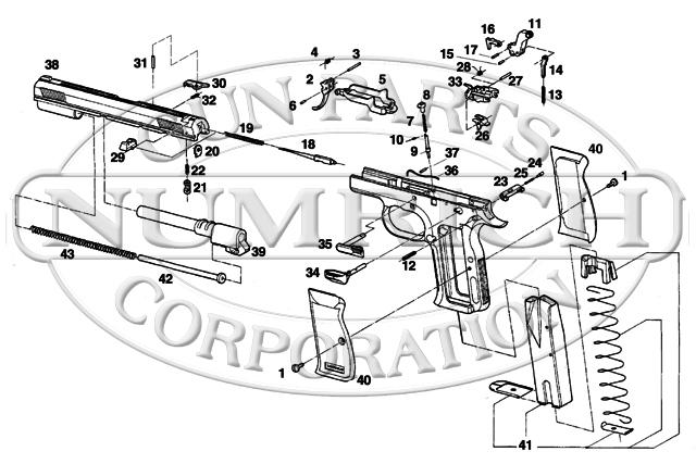 European American Armory Auto Pistols Witness Full Size gun schematic