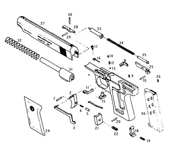 RG Auto Pistols 42 gun schematic