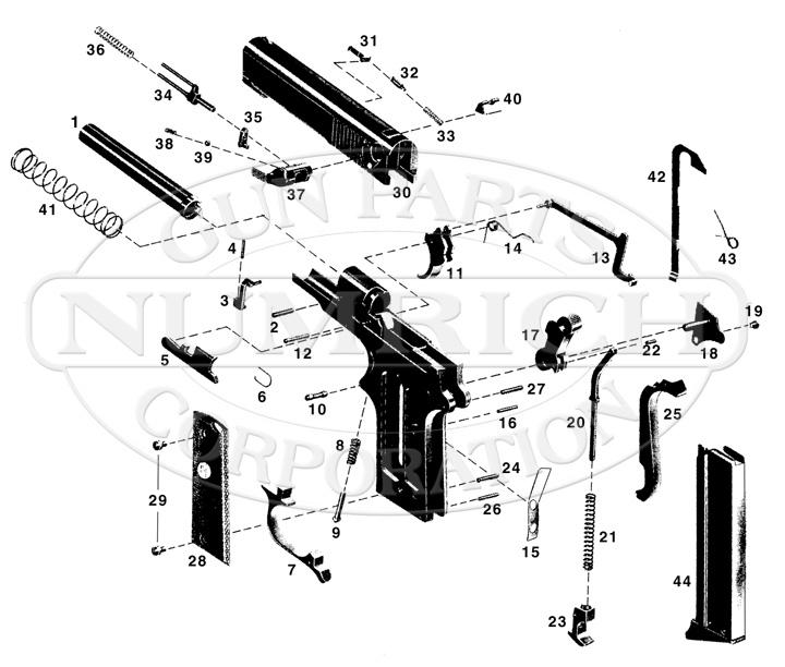 American Arms Auto Pistols EP-380 gun schematic