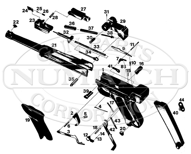 Erma Auto Pistols KGP69 gun schematic