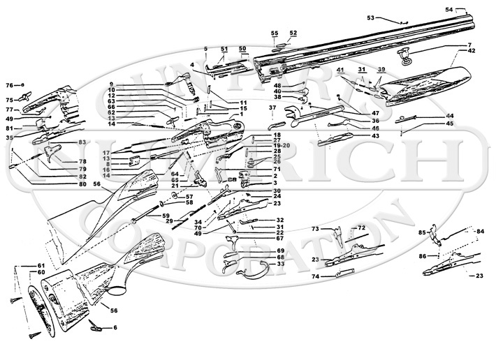 Franchi Shotguns Over/Under Falconet gun schematic