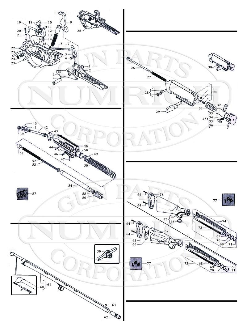 Franchi Shotguns Semi-Auto Recoil Operated Shotguns Affinity gun schematic