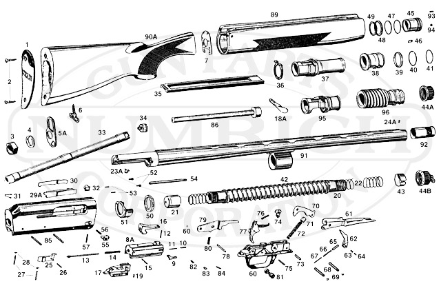 Franchi Shotguns Semi-Auto Gas Operated Shotguns Black Magic Game gun schematic